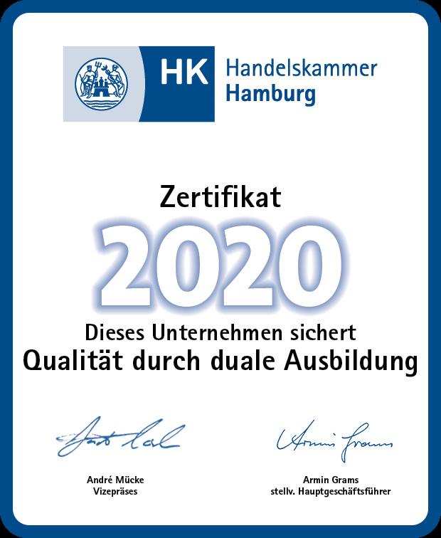 Handelskammer Hamburg Zertifikat duale Ausbildung